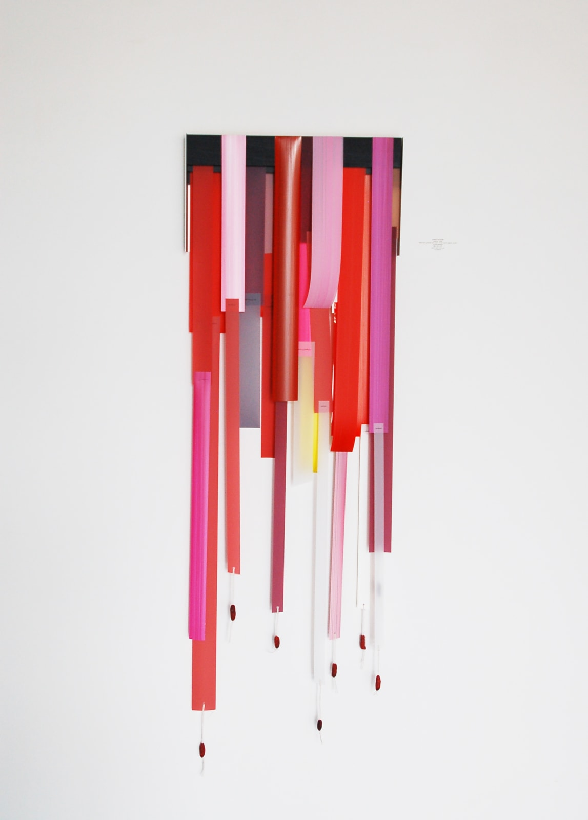 Andrés Ferrandis Islas #1 , 2020 Silkscreen polyester and mylar, thread, found objects, oil and acrylic painting 56 x 18 x 2.5