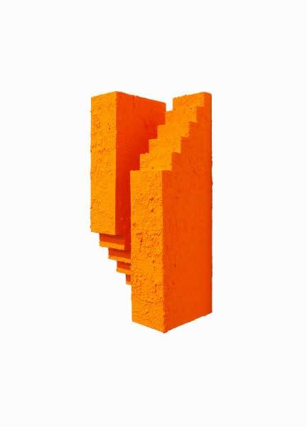 Eric Santoscoy-McKillip Reaching 20, 2020 Acrylic, flashe, and stucco on wood 14 x 6 x 4.75 in 35.6 x 15.2 x 12.1 cm