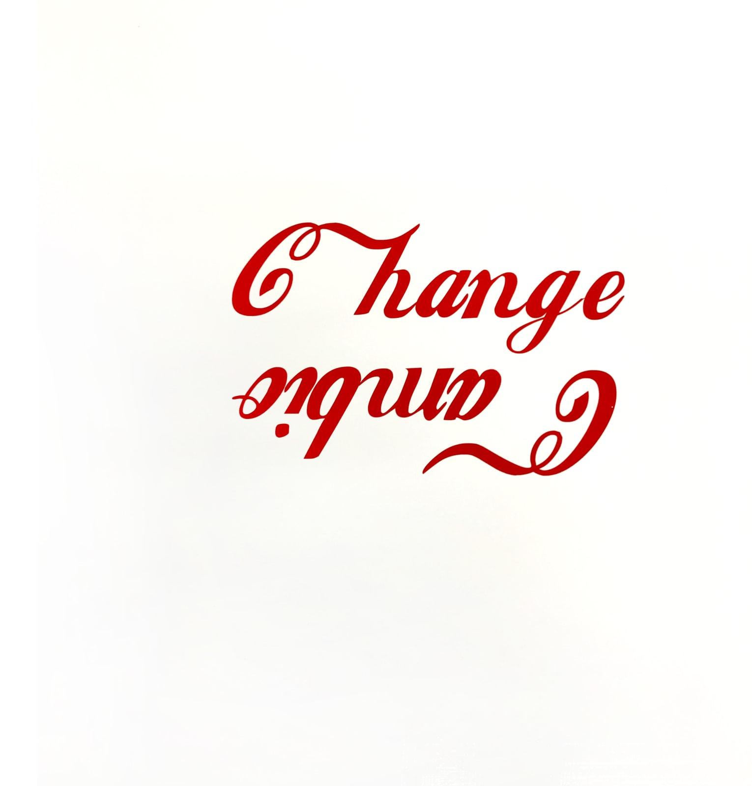 Ethel Shipton Change Cambio, 2020 House paint, vinyl on panel, 24 x 24