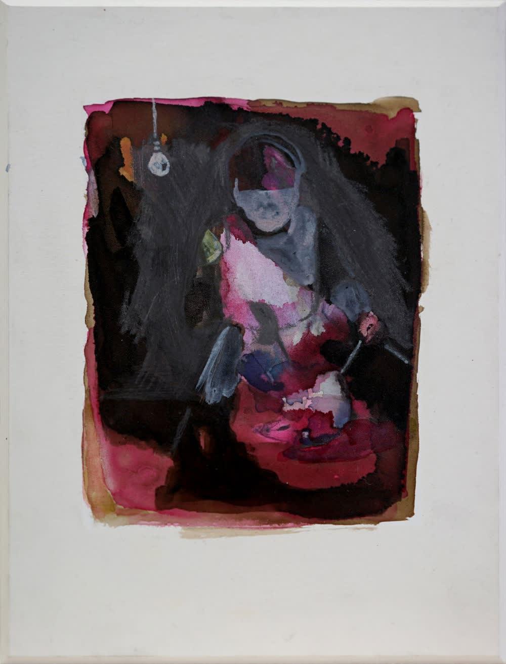 ANNA BITTERSOHL - UNTERSUCHUNG MIT LICHT - 2016 - INK AND PENCIL ON CARTON - 19,5 X 14,5 CM