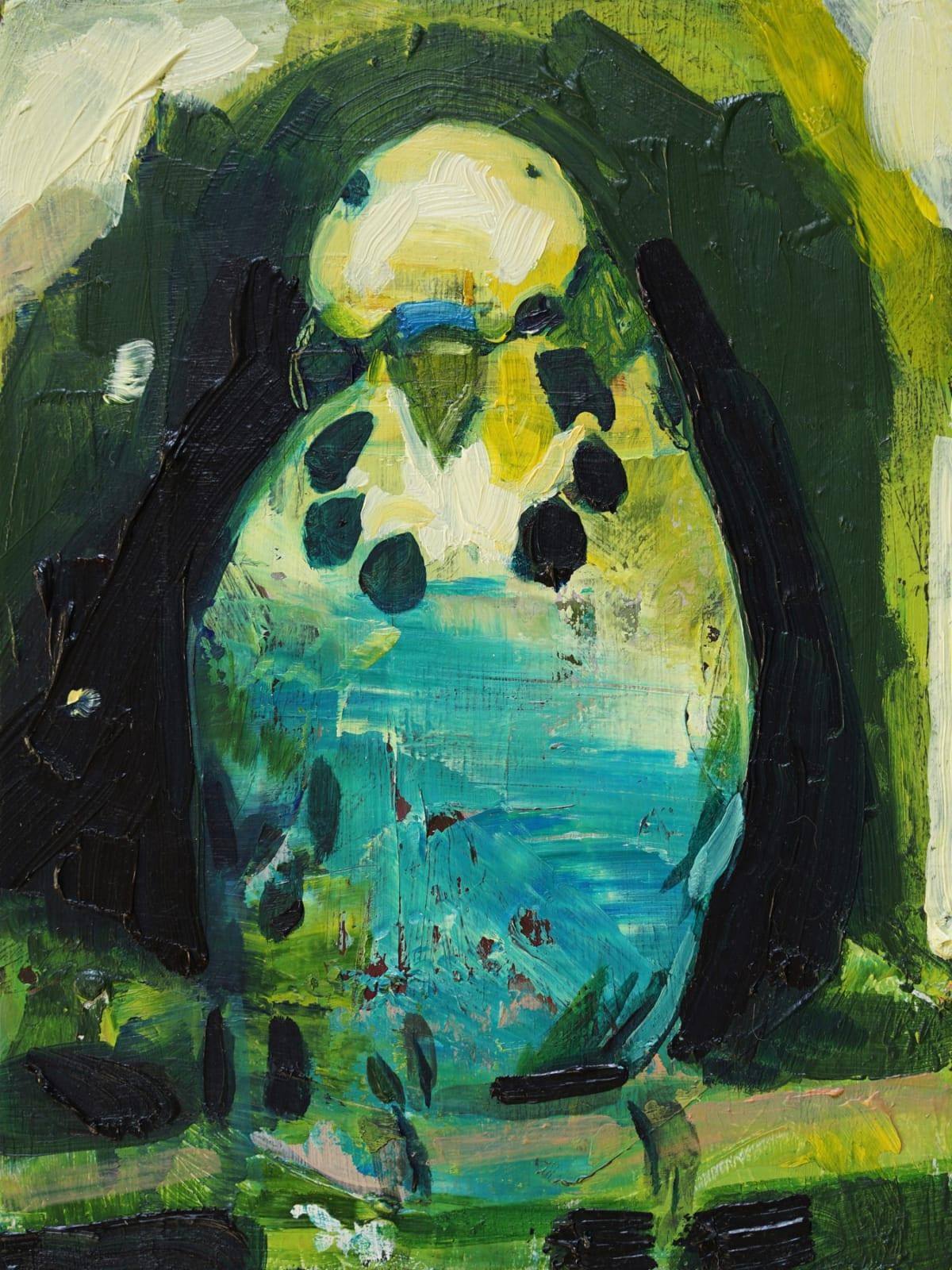 ANNA BITTERSOHL - IMAGINARY BIRD - 2017 - OIL ON WOOD - 20 X 15 CM