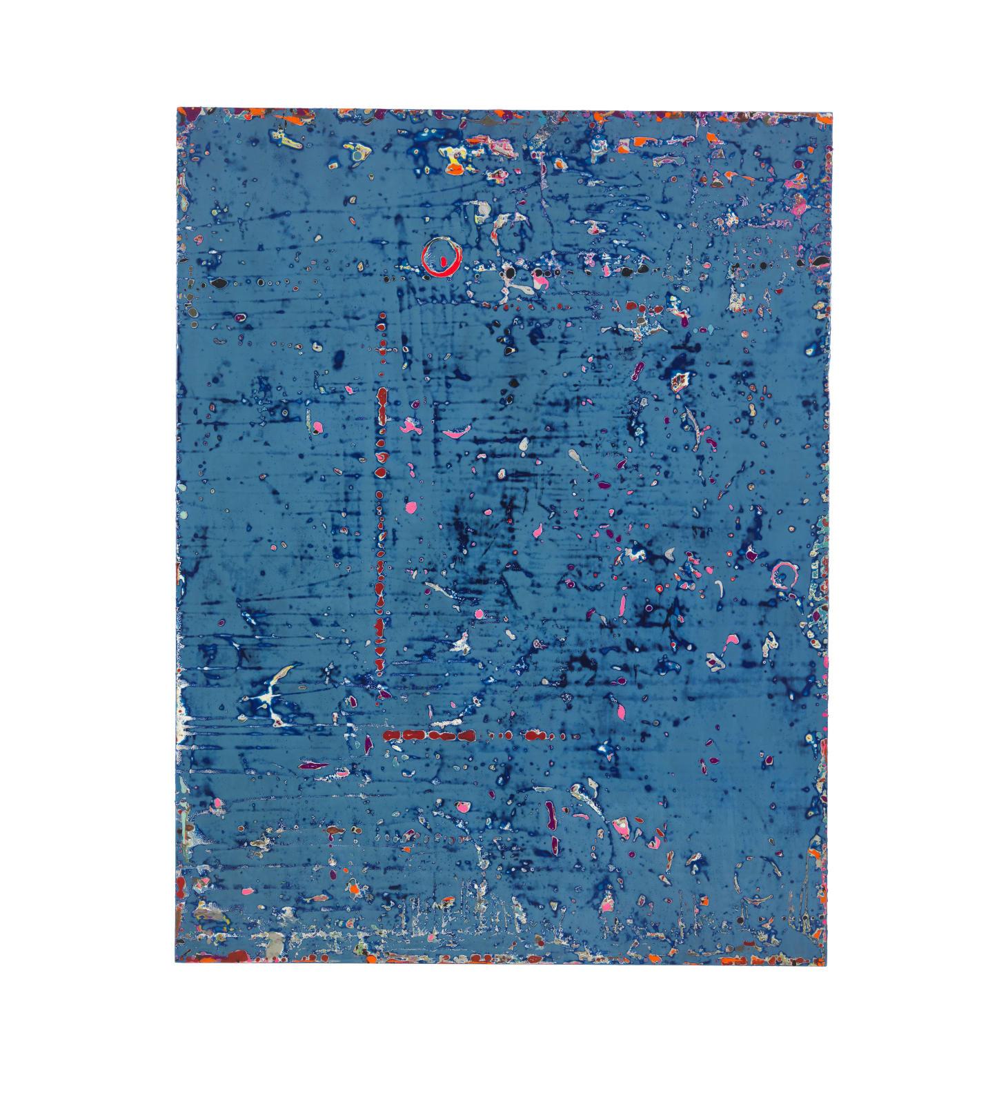 EMMANUEL BARCILON - UNTITLED - 2016 - VARNISH AND PIGMENT ON WOOD - 200 X 153 CM