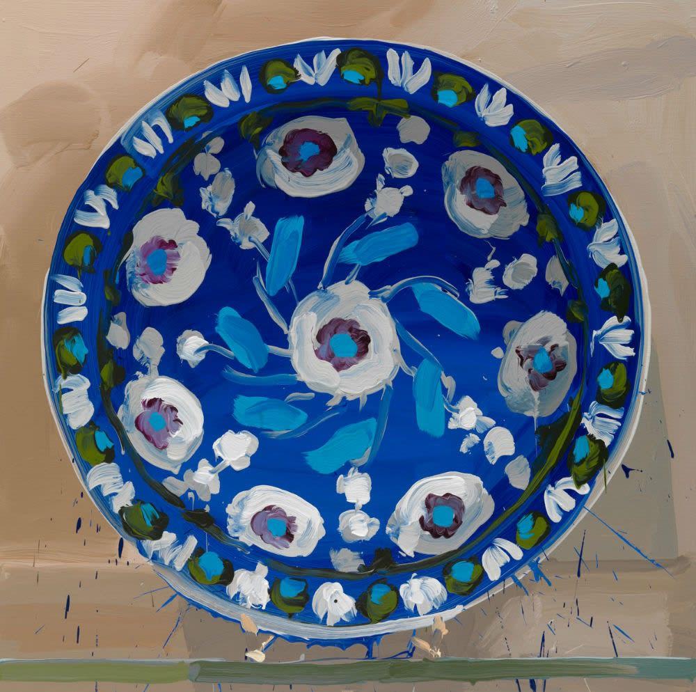 JAN DE VLIEGHER - IZNIK, BLUE GROUND - 2012 - OIL ON LINEN - 110 X 110 CM