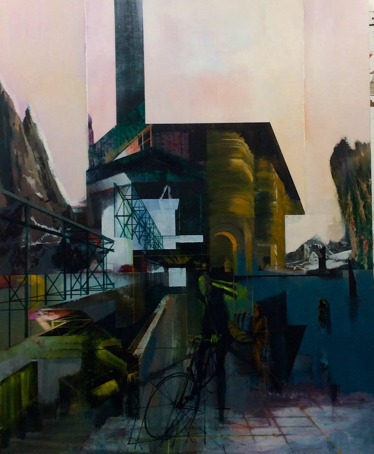 TIM KENT - ESCAPE ARTIST - 2016 - OIL ON LINEN - 122 X 152 CM