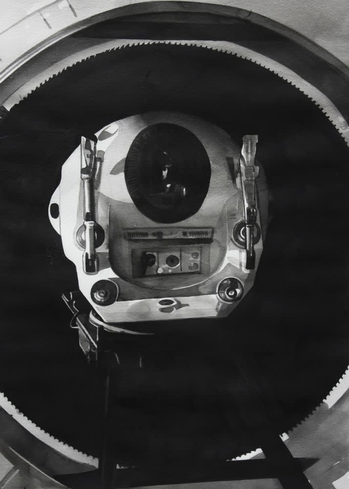 RADENKO MILAK - 2001 A SPACE ODYSSEY (1968) - 2016 - WATERCOLOR ON PAPER - 70 X 50 CM