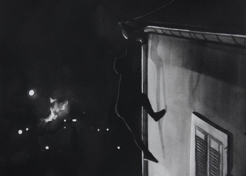 RADENKO MILAK - JUDEX (1963) - 2016 - WATERCOLOR ON PAPER - 26 X 36 CM