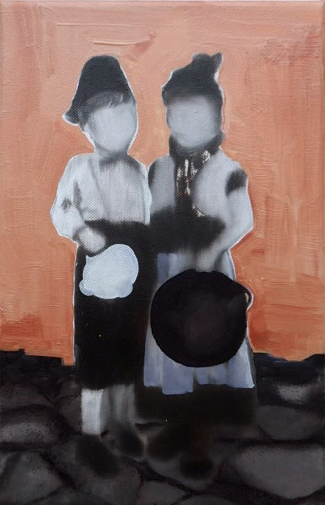 NATALIA OSSEF - THE DAY BEFORE - 2015 - OIL ON CANVAS - 30 X 18 CM