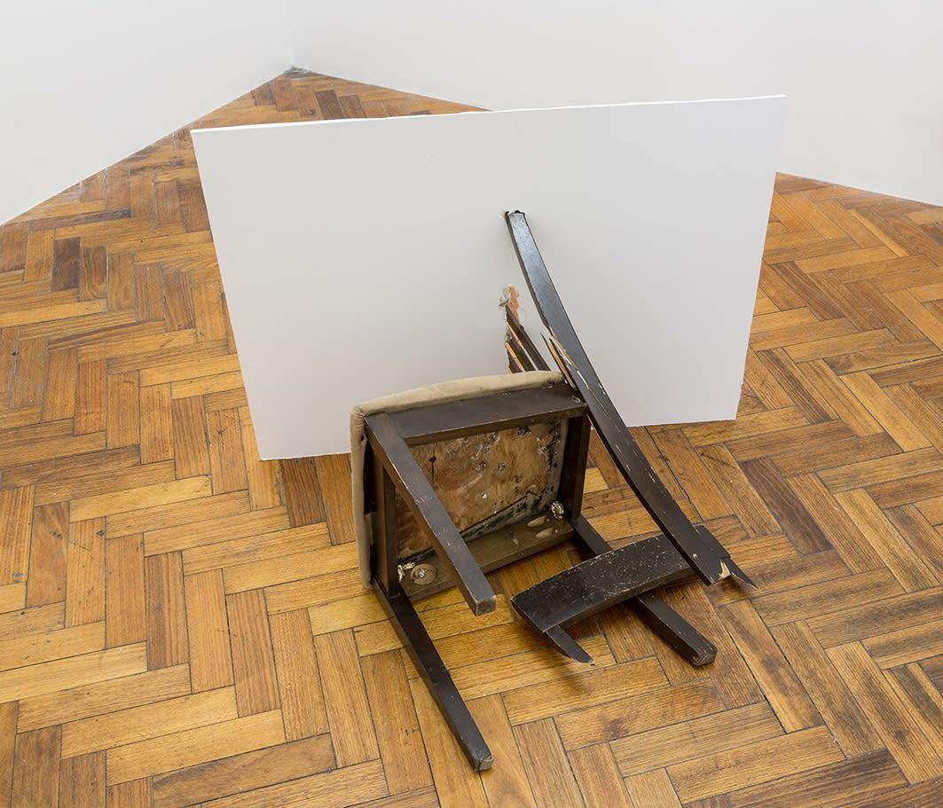 Kiron Robinson, A chair thrown in anger, 2017