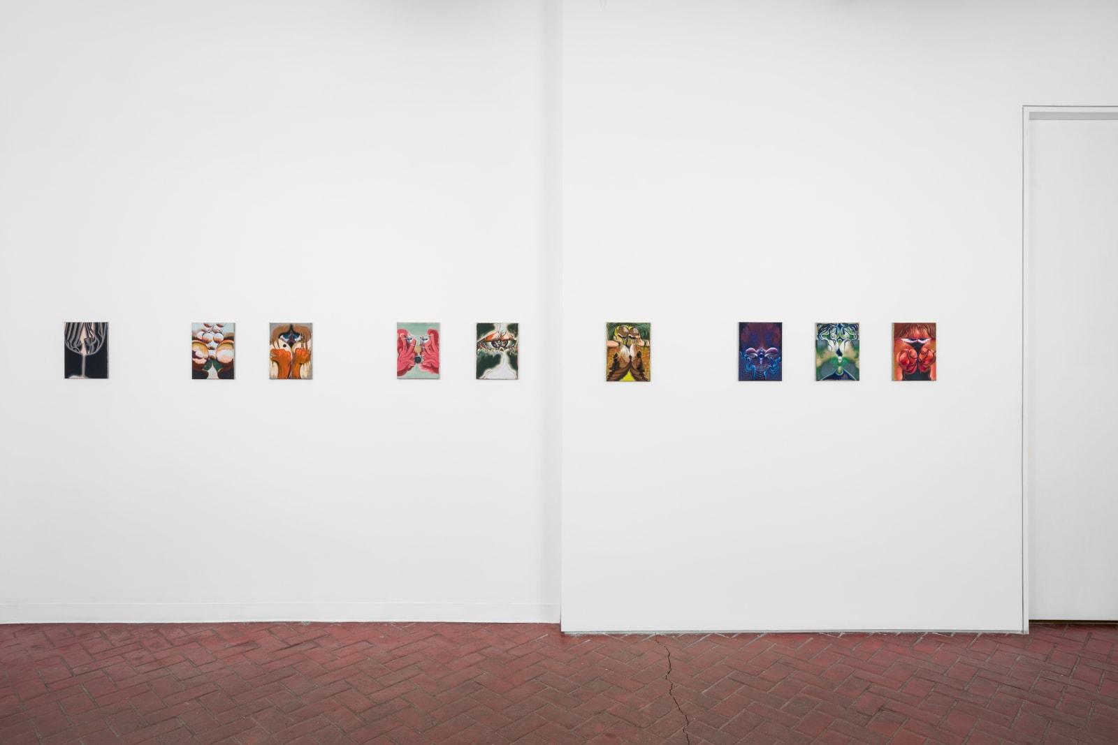 Installation view of Bridget Mullen: Birthday, Shulamit Nazarian, Los Angeles, July 10–August 28, 2021