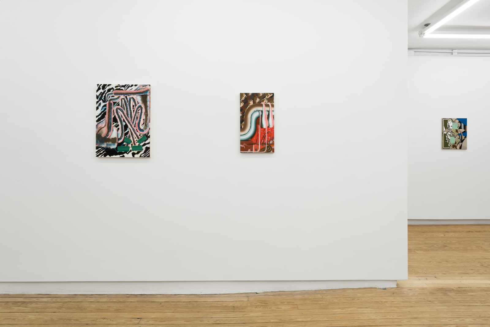 Installation view of Bridget Mullen: Threshold Blues, Helena Anrather, January 17–February 24, 2019