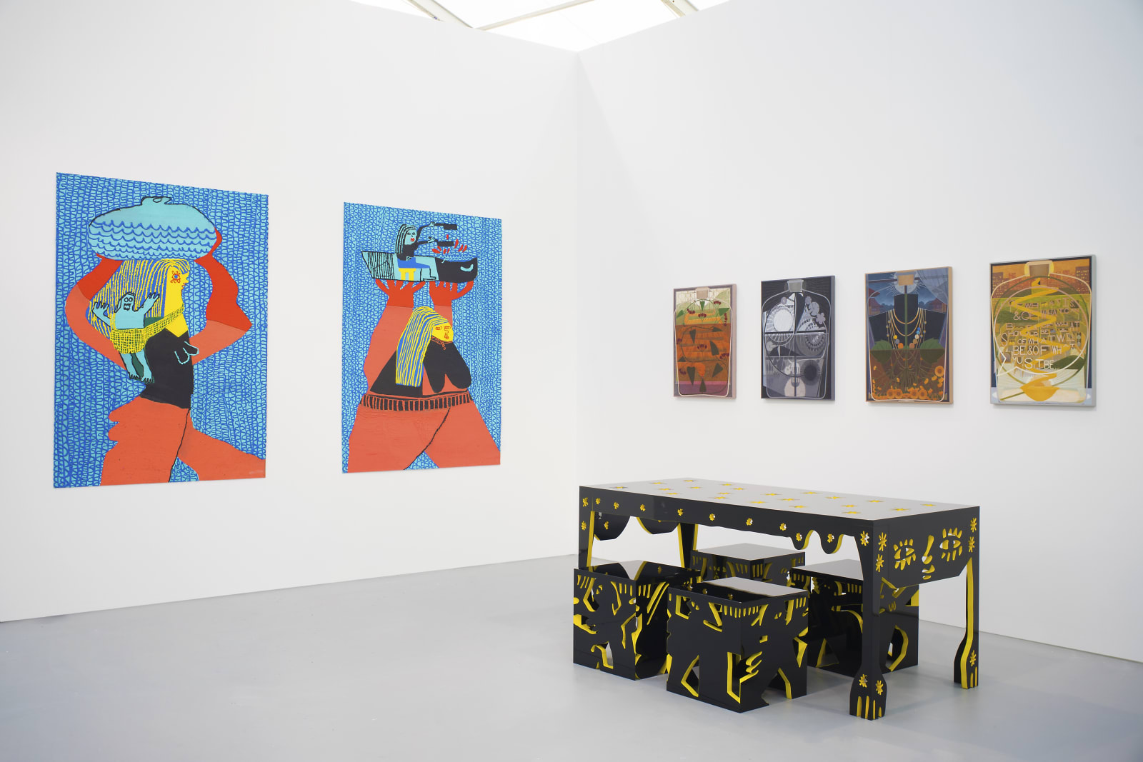 Trenton Doyle Hancock, Michael Stamm, and Summer Wheat, Untitled Miami, 2018