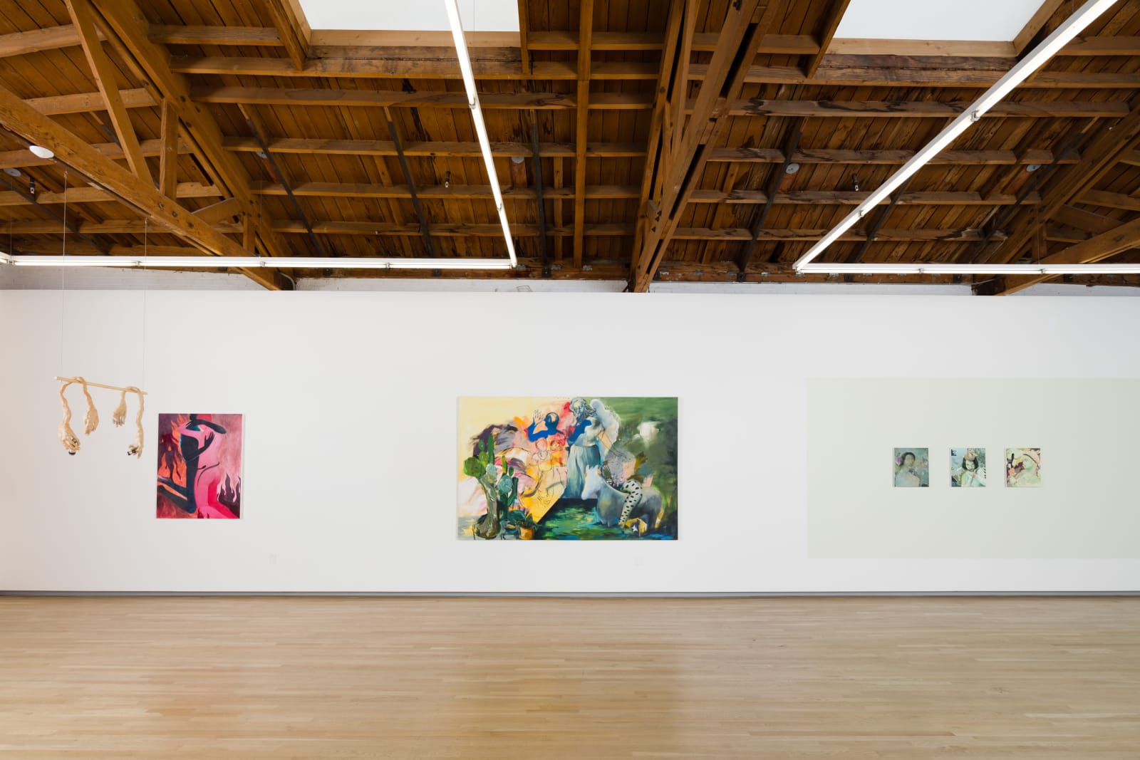 Roni Shneior, Naudline Pierre, Sara Issakharian, and Katie Dorame in By The Lights of Their Eyes, 2018. Shulamit Nazarian, Los Angeles