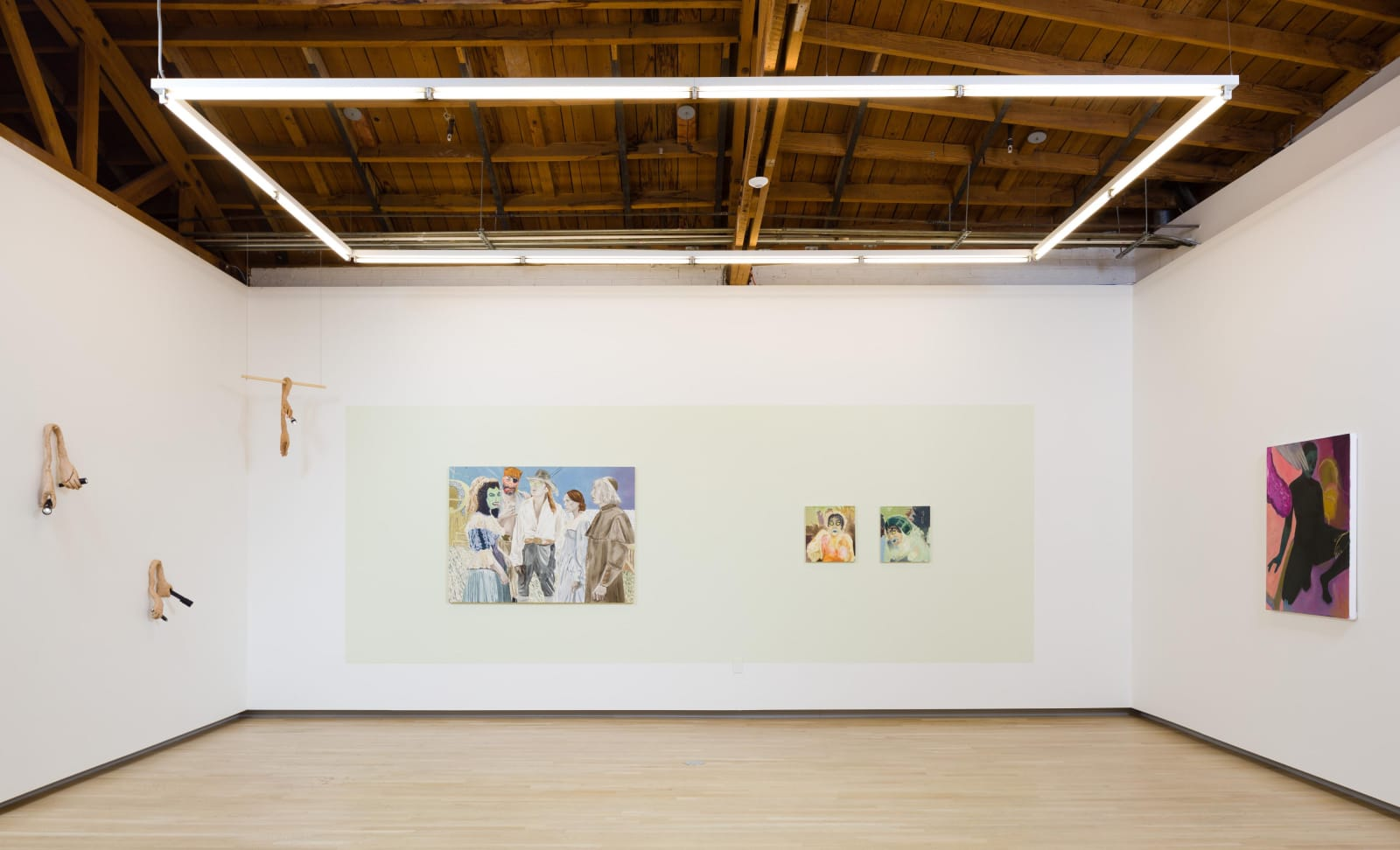 Roni Schneior, Katie Dorame, and Naudline Pierre in By The Lights of Their Eyes, 2018. Shulamit Nazarian, Los Angeles