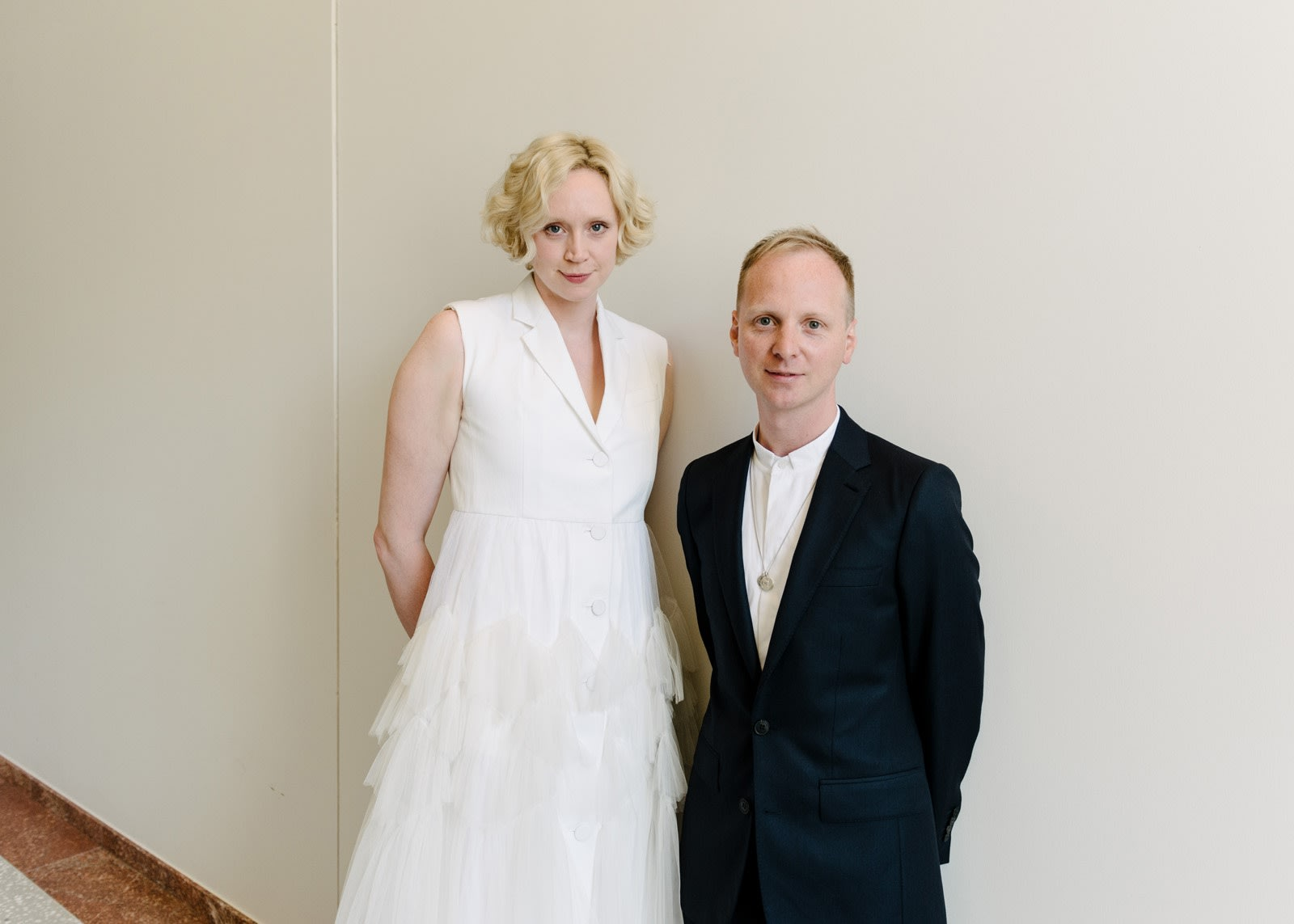 Gwendoline Christie and Simon Oldfield at the Royal Academy of Arts