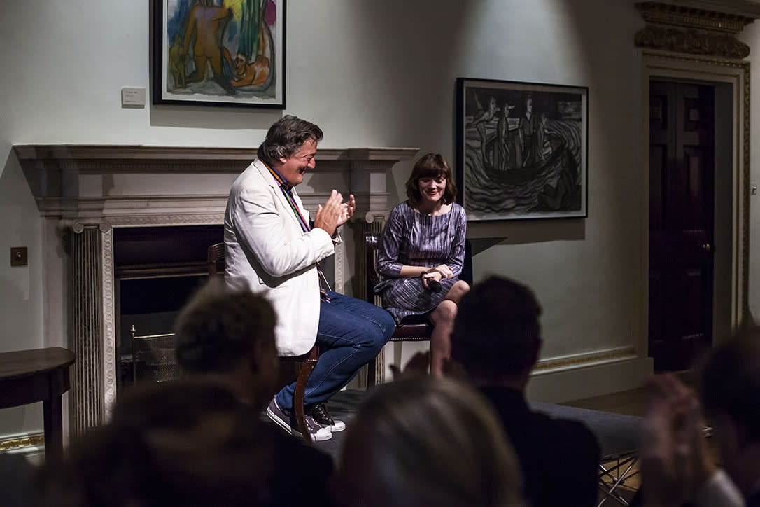 Stephen Fry at the Royal Academy of Arts