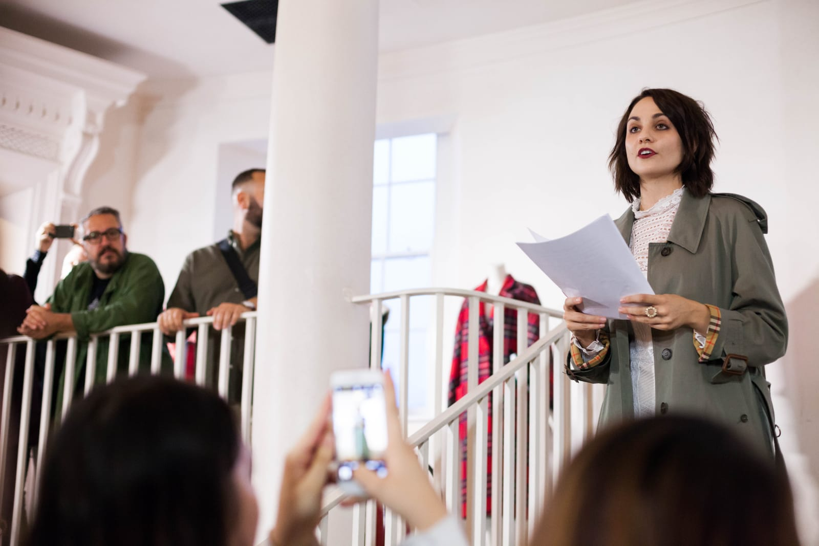 Tuppence Middleton at Burberry Old Sessions House