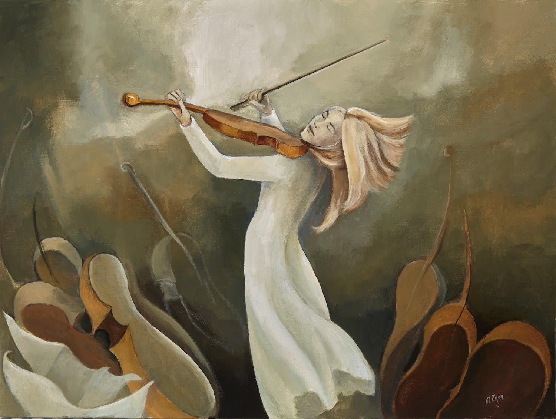 The Flight of Sound, acrylic on canvas, 40 x 51 cm