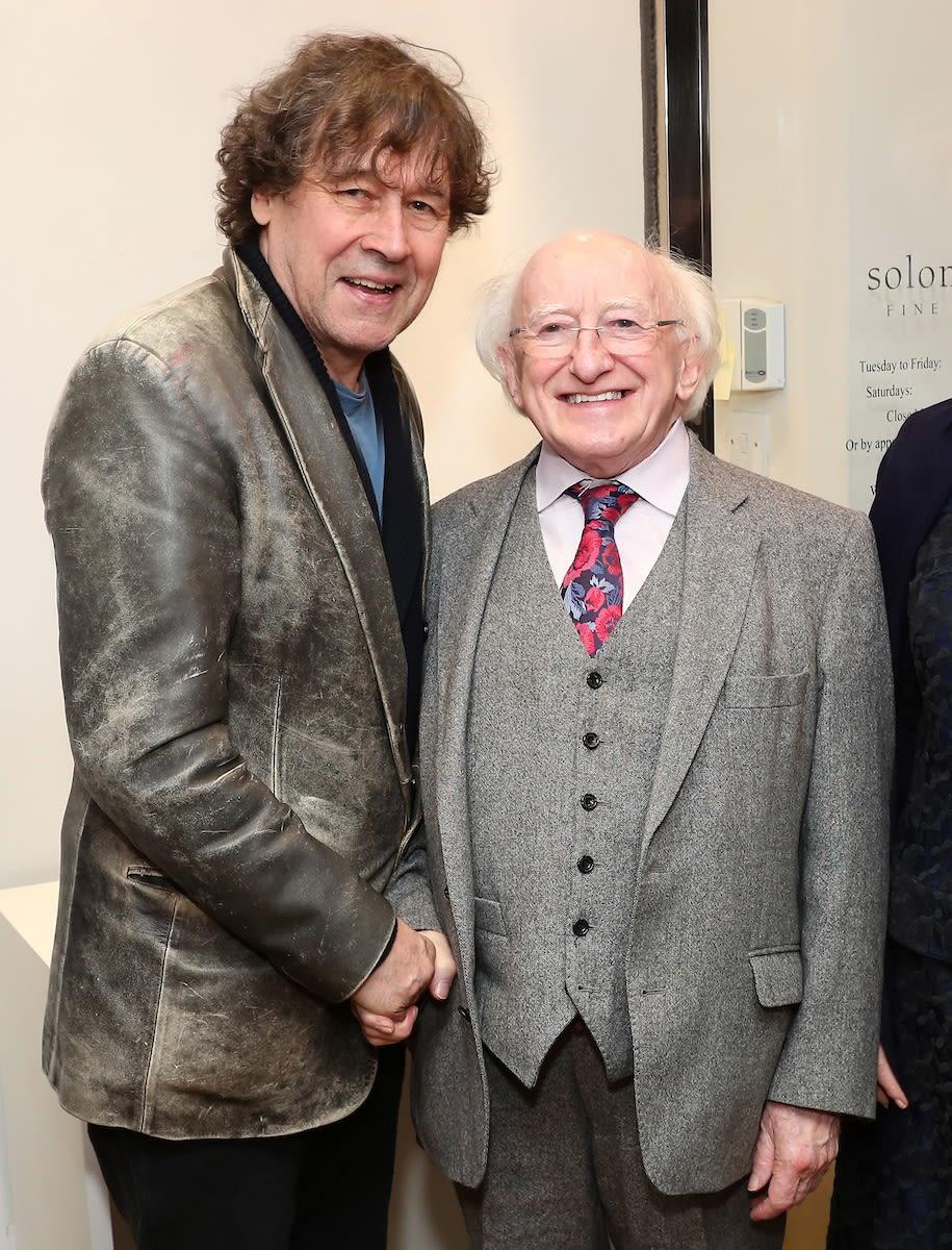 Stephen Rea & President Higgins
