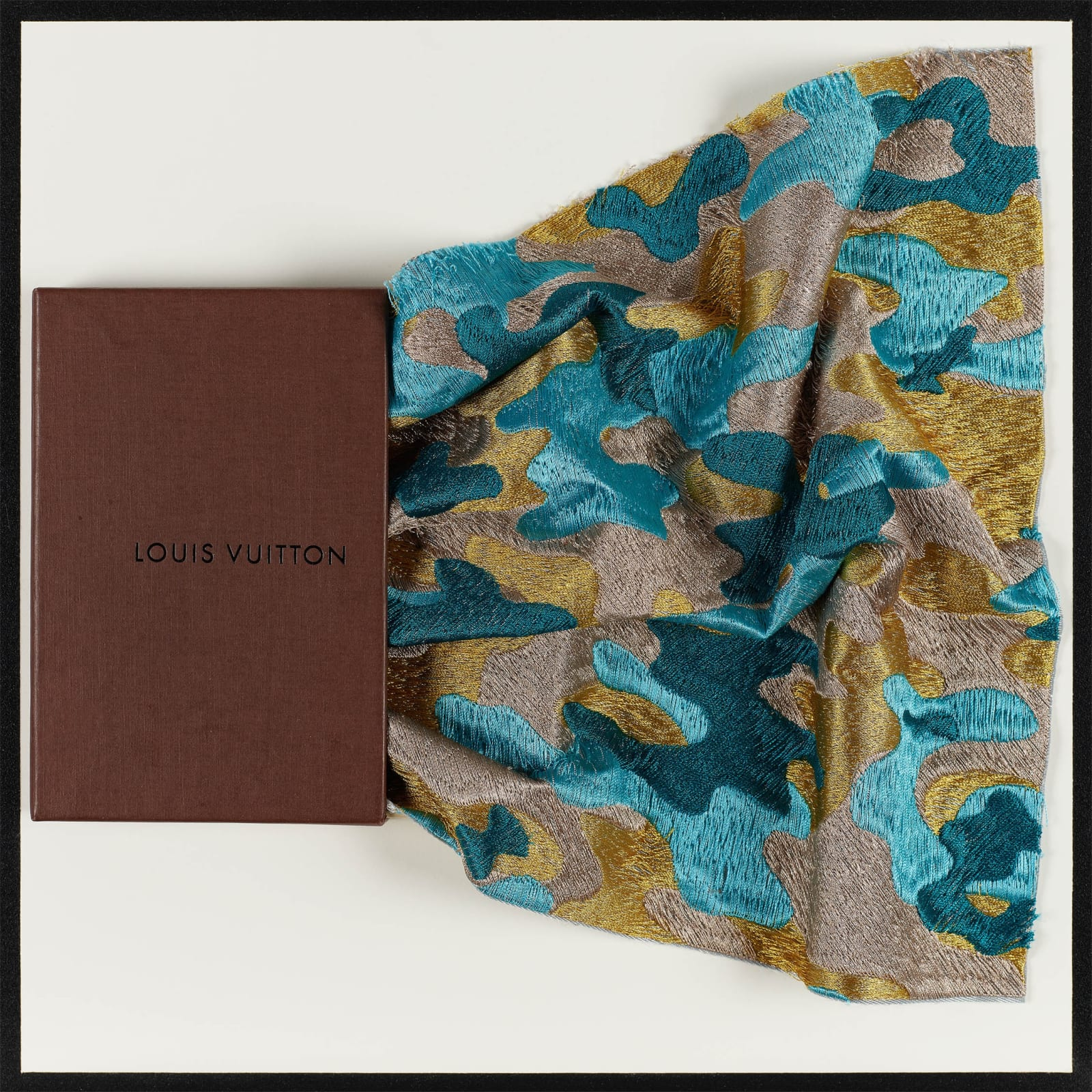 LV Camo Scarf Drawer
