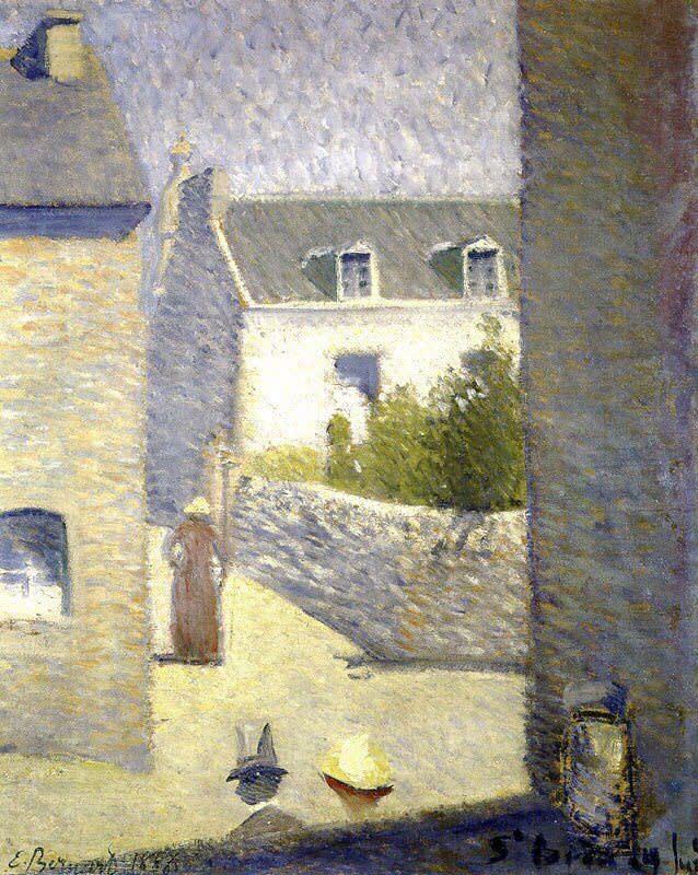 Emile Bernard (1868-1941), une rue à Saint-Briac, Oil on canvas, 1886, private collection