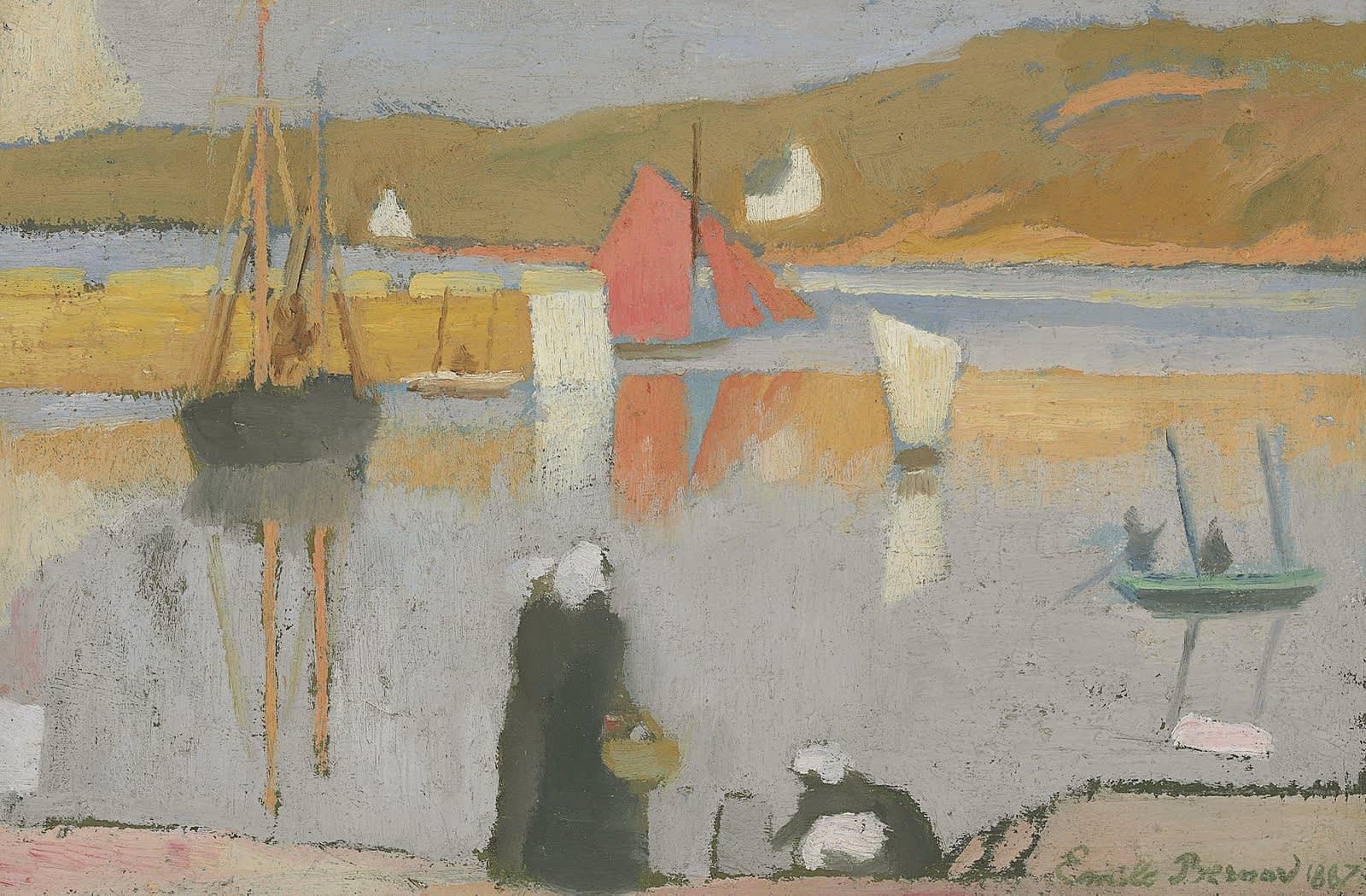 Emile Bernard (1868-1941), le port de Saint-Briac, Oil on canvas, 1887, private collection