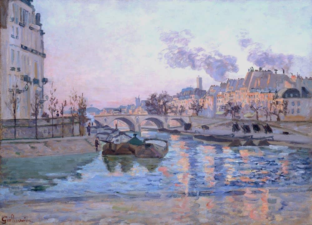 Armand Guillaumin Paris, le Pont Marie et le quai de l'Hotel de ville, c.1882 Oil on canvas 59.6 x 81 cm 23 1/2 x 32 7/8 inches Signed lower left Sold by the gallery.