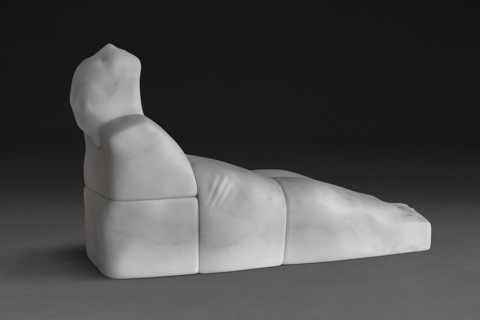 Before Sunrise, White Statuary - Marble of Carrara, 28 x 83 x 48 cm, 2017