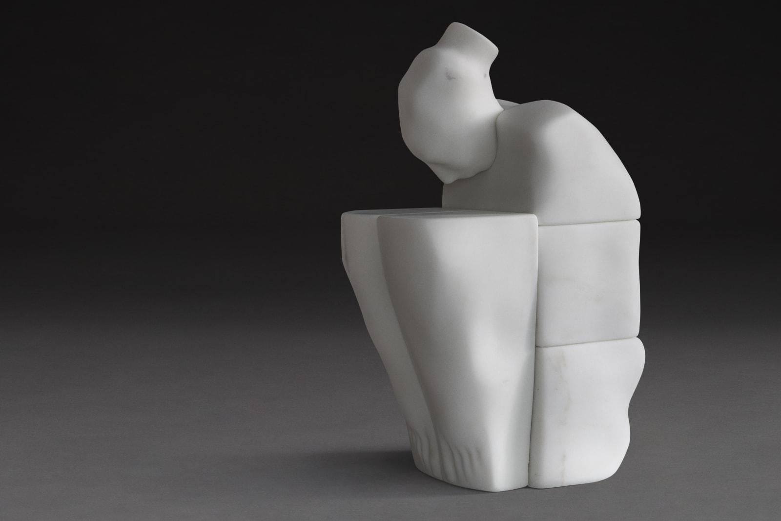Nostalgia, White Statuary - Marble of Carrara, 28 x 38 x 63 cm, 2017