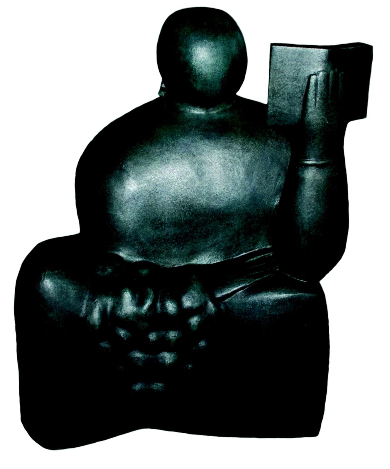Adam Henein, The Reader, 40x30x20cm, Bronze 1955