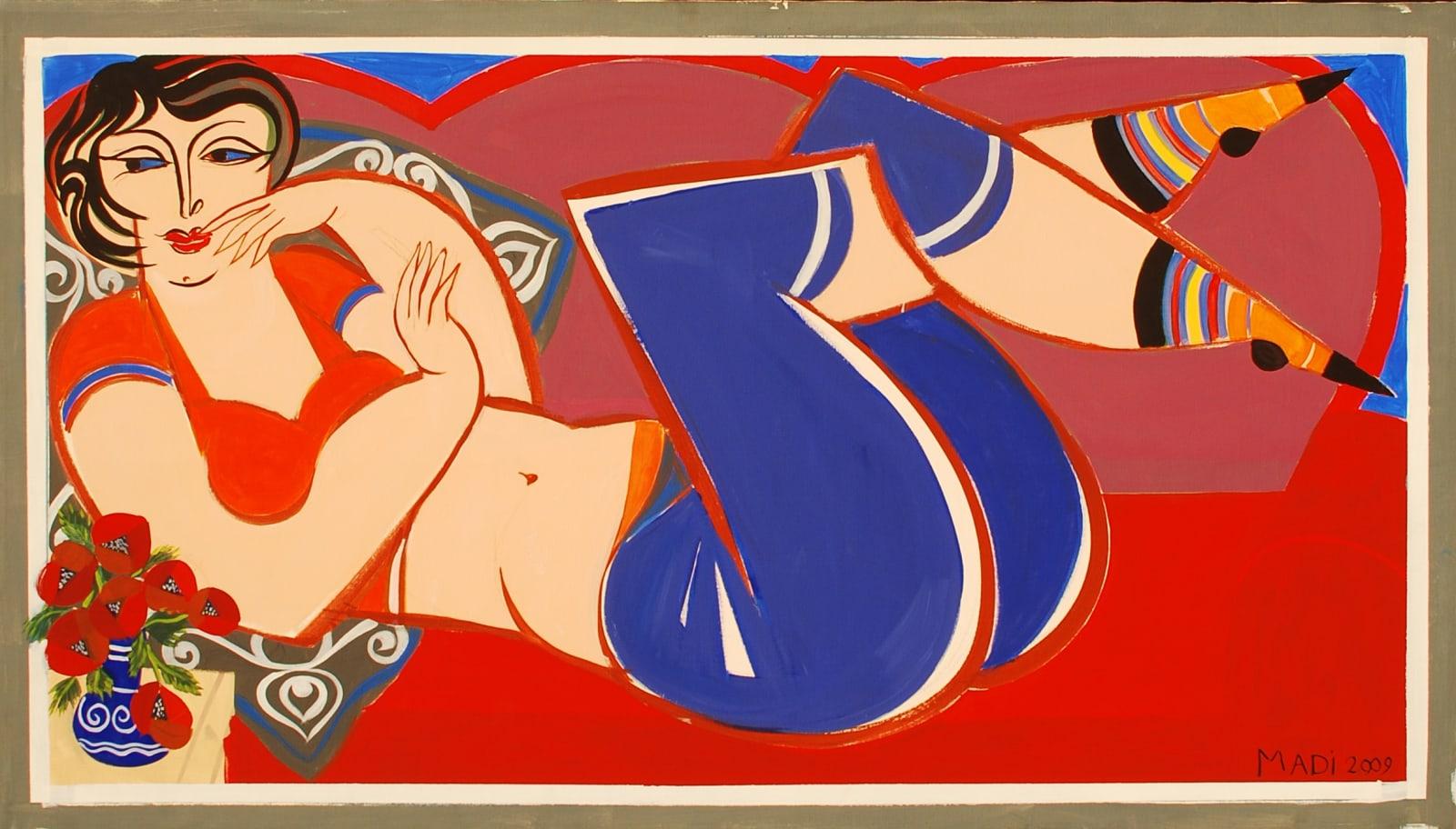 Hussein Madi, Untitled, 80x140, 2009, acrylic on canvas