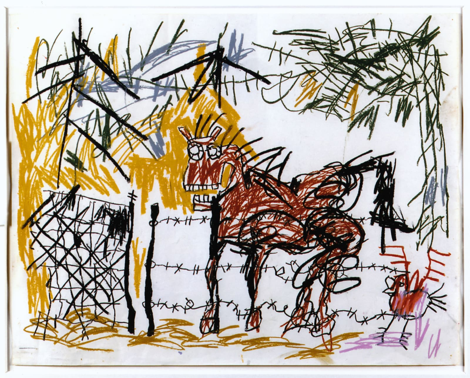 Jean-Michel Basquiat Untitled , 1981 Crayon on Paper 45.1 x 57.2 cm