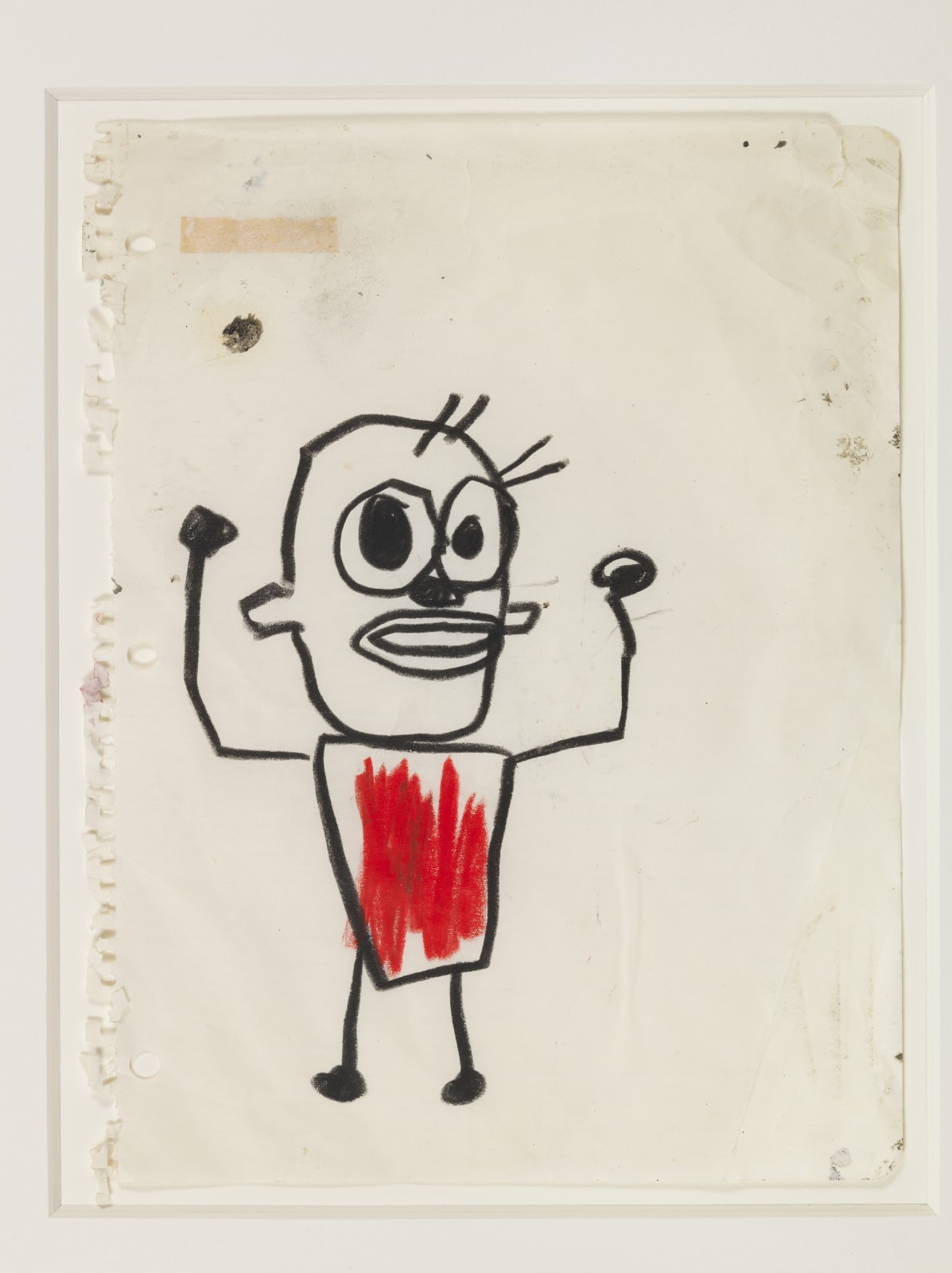 Jean-Michel Basquiat Untitled (3 drawings), 1982 Crayon on Notebook Paper 27.9 x 21.5 cm