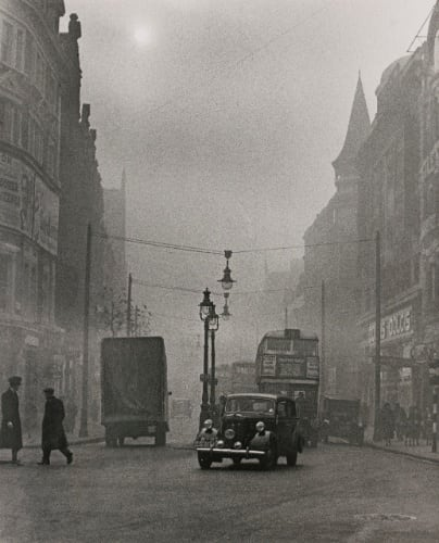 Charing Cross Road, View from Oxford Street (pea soup fog), c.1936