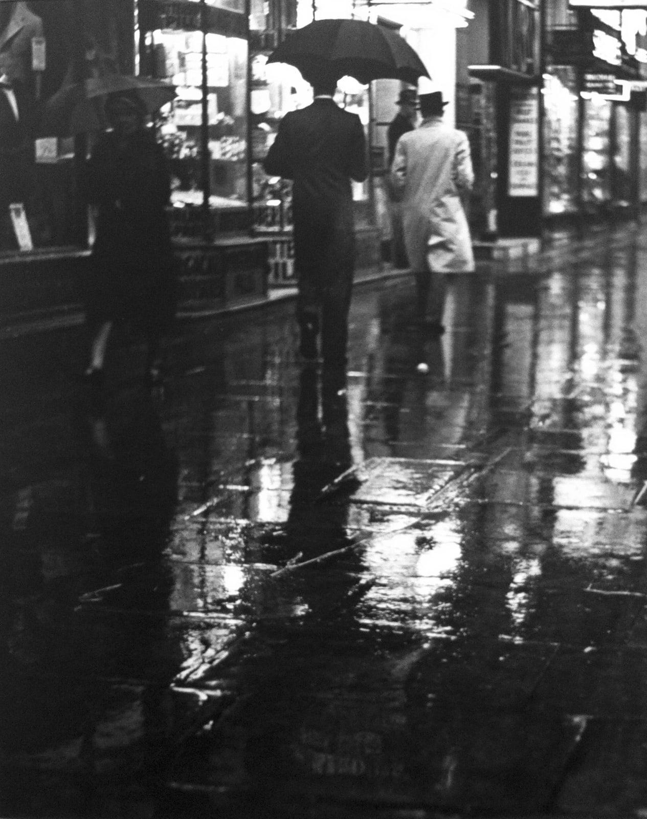 Charing Cross Road (walking in the rain), 1937