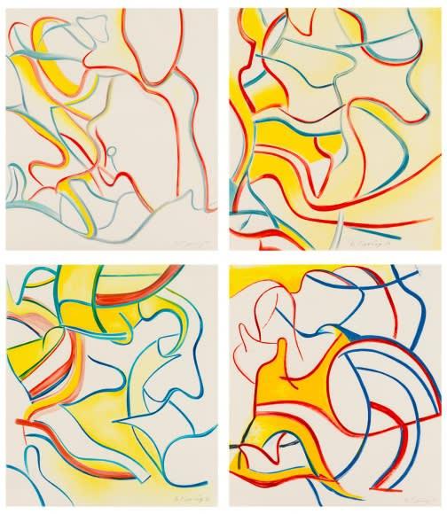 Willem de Kooning, Quatre Lithographies, 1986