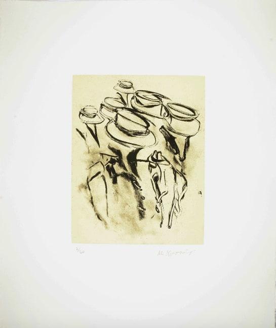Willem de Kooning, Seventeen Lithographs for Frank O'Hara: One plate, 1988