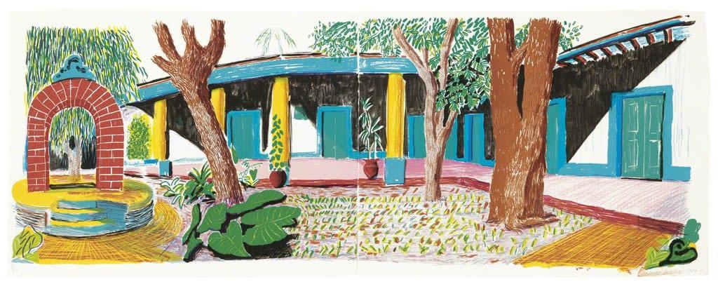 David Hockney, Hotel Acatlan: Second Day, from Moving Focus, 1984-1985