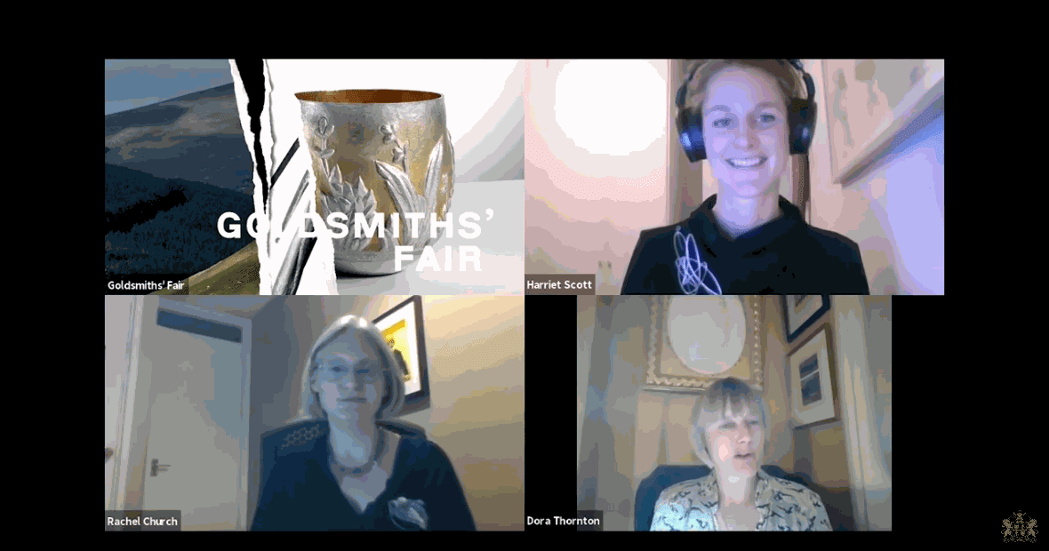 the goldsmiths' fair talks - the brooch with fair director, harriet scot, wearing ute decker's chaos brooch recording available online