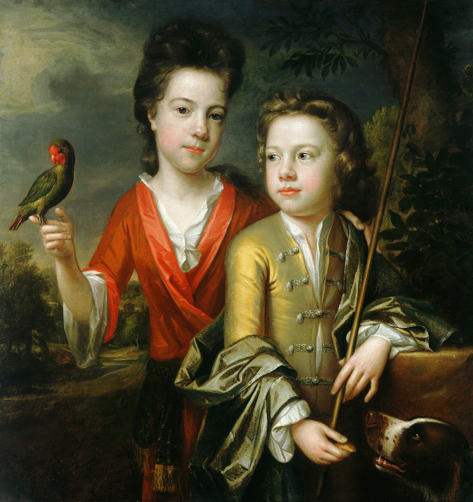 Two Children, thought to be Emily and Robert Cecil