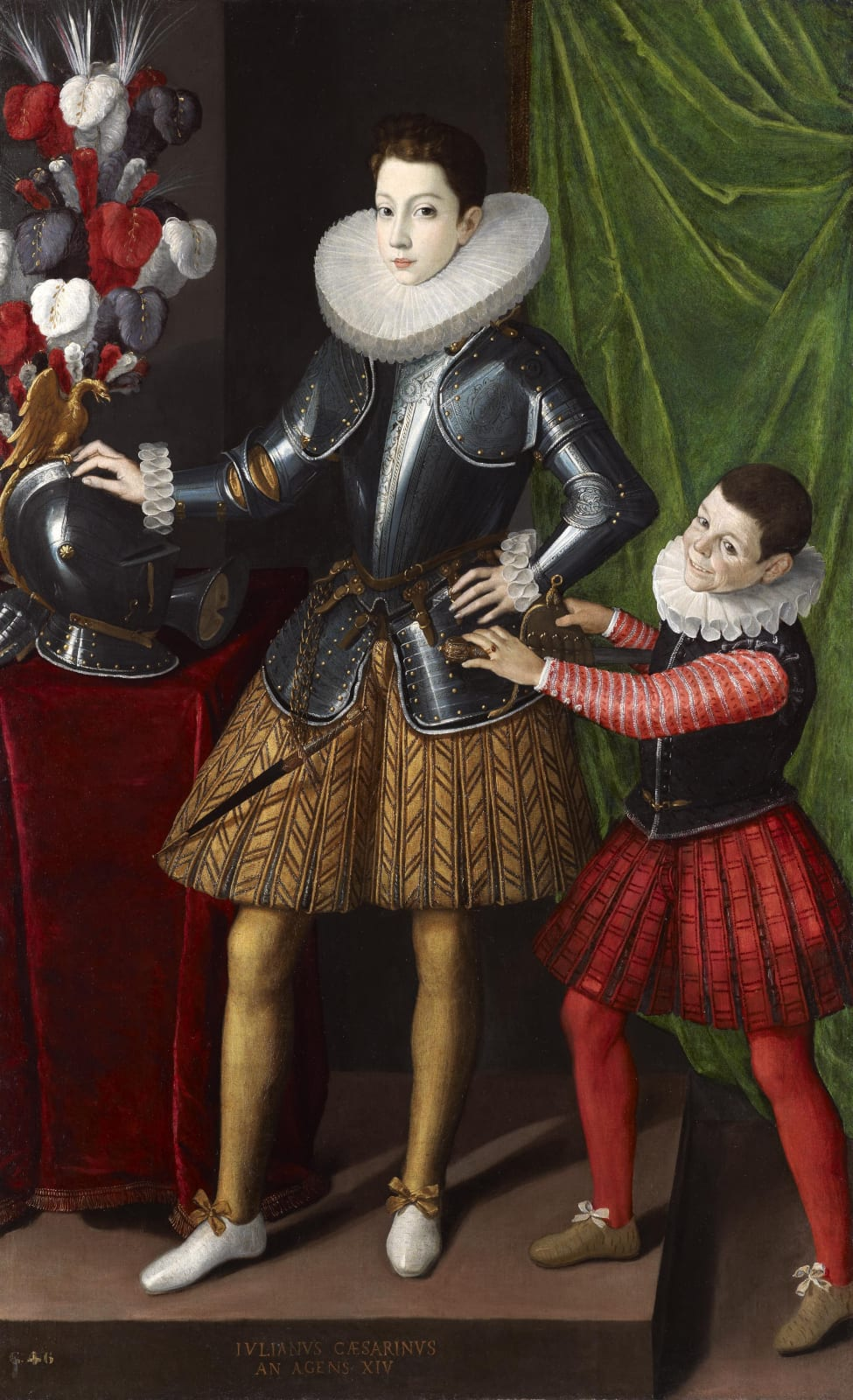 Giuliano II Cesarini (1572 – 1613), with an attendant midget
