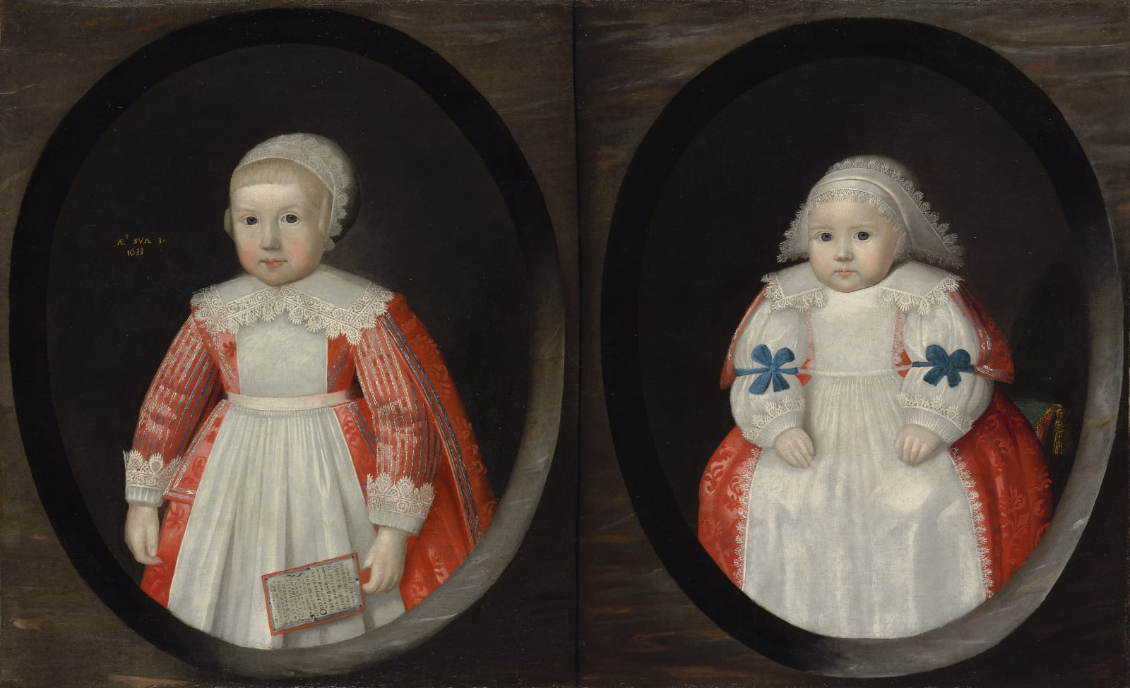 Two young children of the Courtenay family, possibly Anne (b. 1630) and Susan (b. 1632) Courtenay