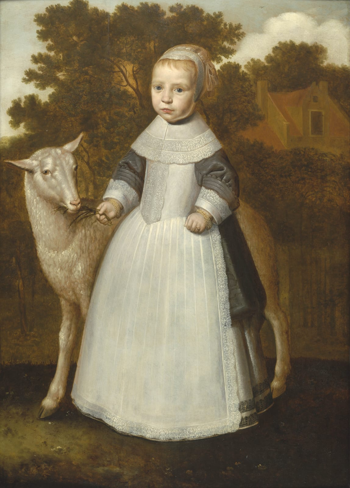 An Unknown Young Girl with a Lamb