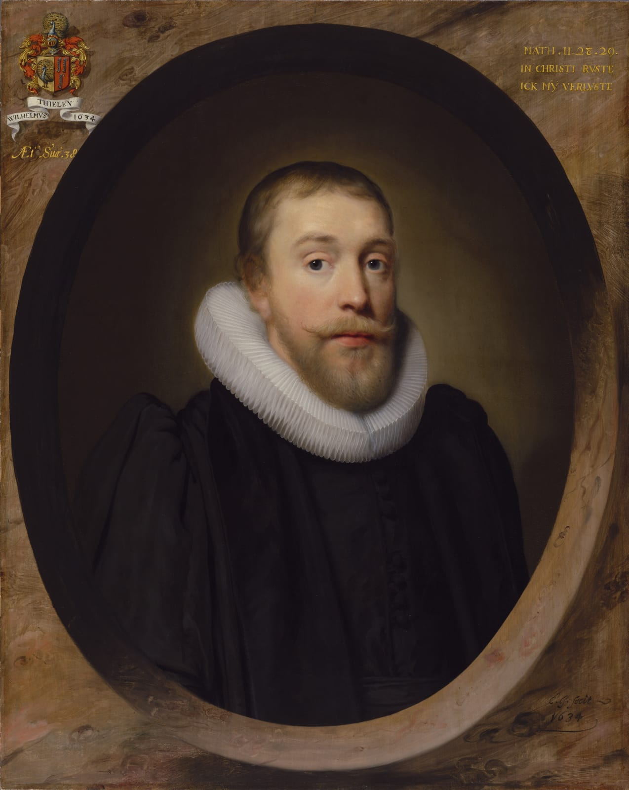Willem Thielen (1596 – 1638), Reverend Minister of the Reformed Dutch Church of London and his wife Maria de Fraeye (1605 – 1682)