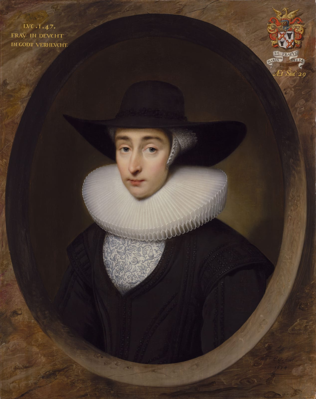 An Unknown Lady, presumably from the Dutch Reformist Community in London