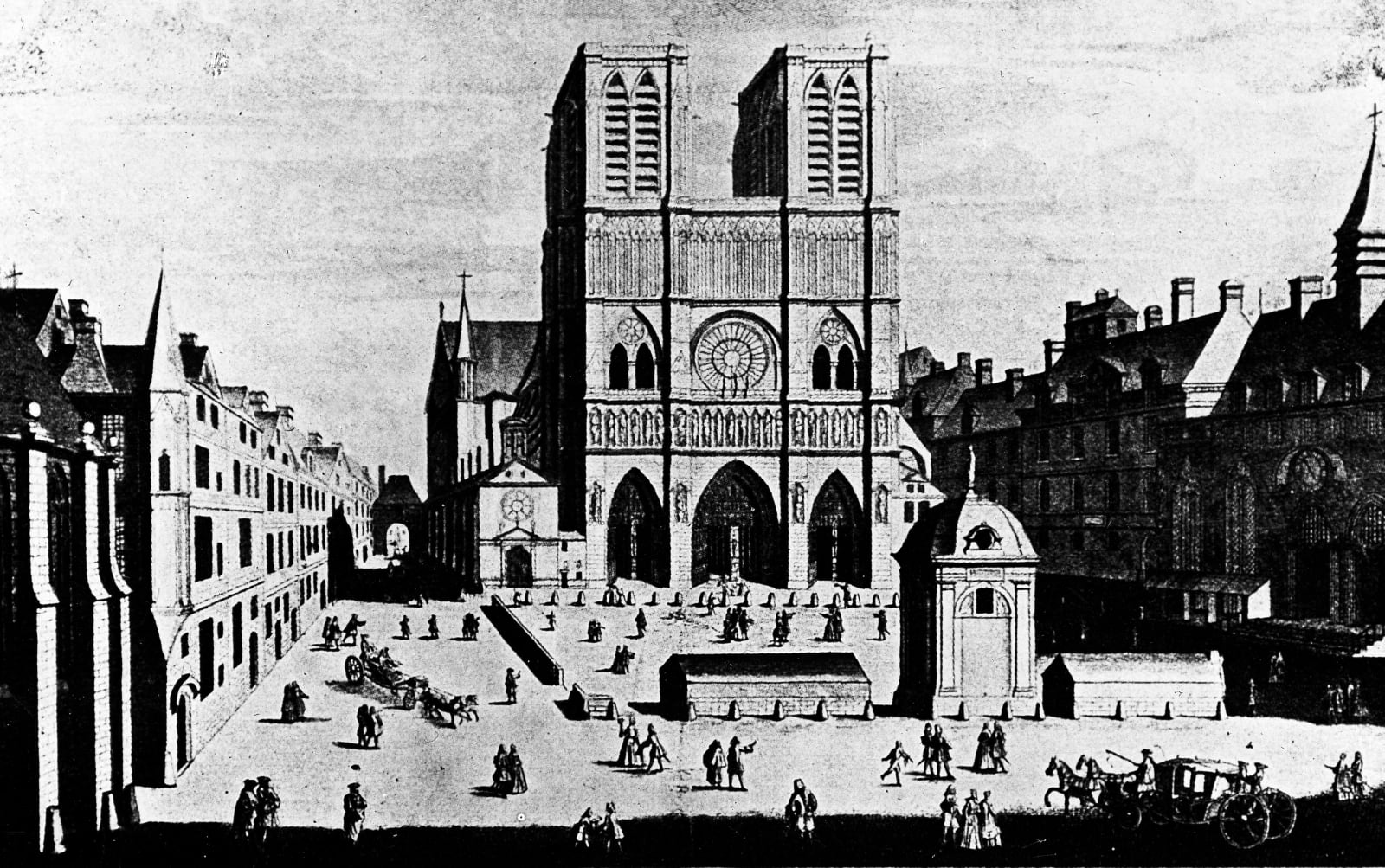 Where she wed: Notre Dame, Paris