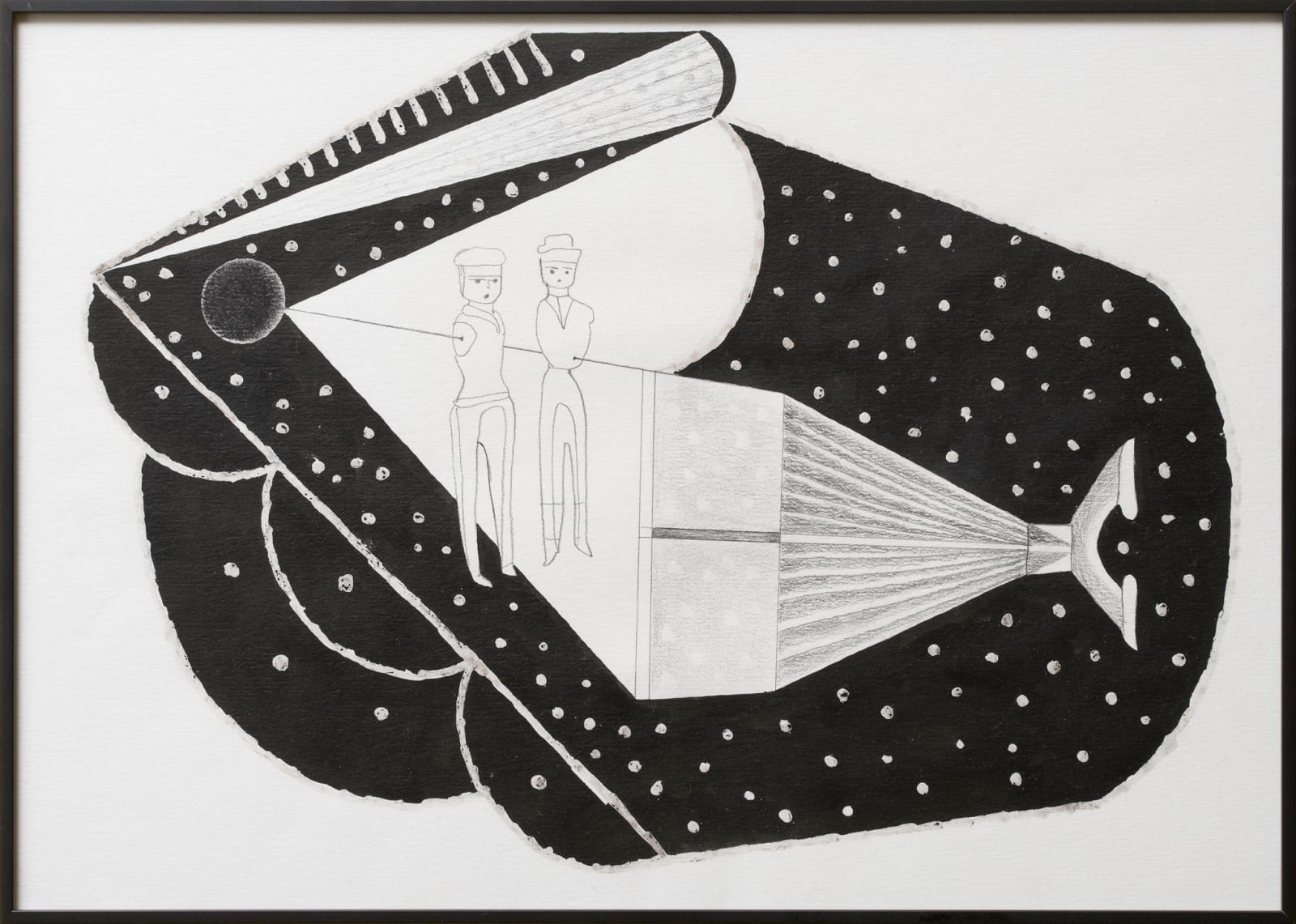 Anna Hulacova, Untitled, 2015, paper, graphite, ink, wax 30,5 x 42,5 x 2 cm
