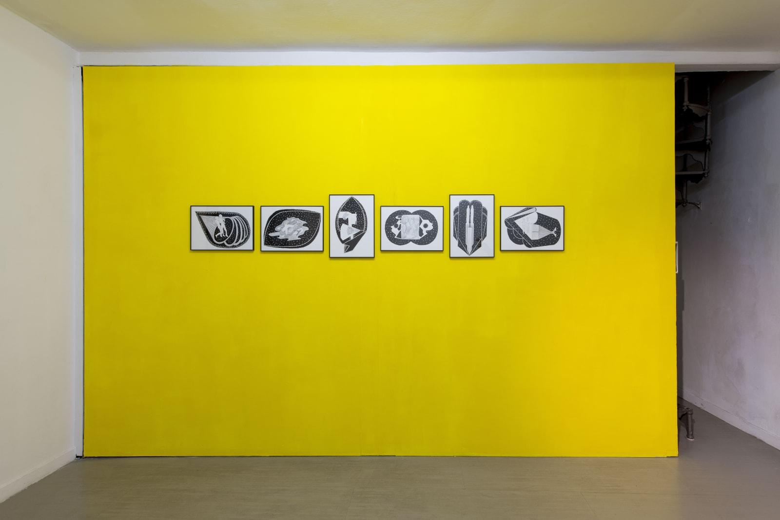 Hidden Beauty, Anna Hulačová, Krištof Kintera, Pavla Sceranková, Richard Wiesner, curated by Marina Dacci and Krištof Kintera, installation view, z2o Sara Zanin Gallery Rome