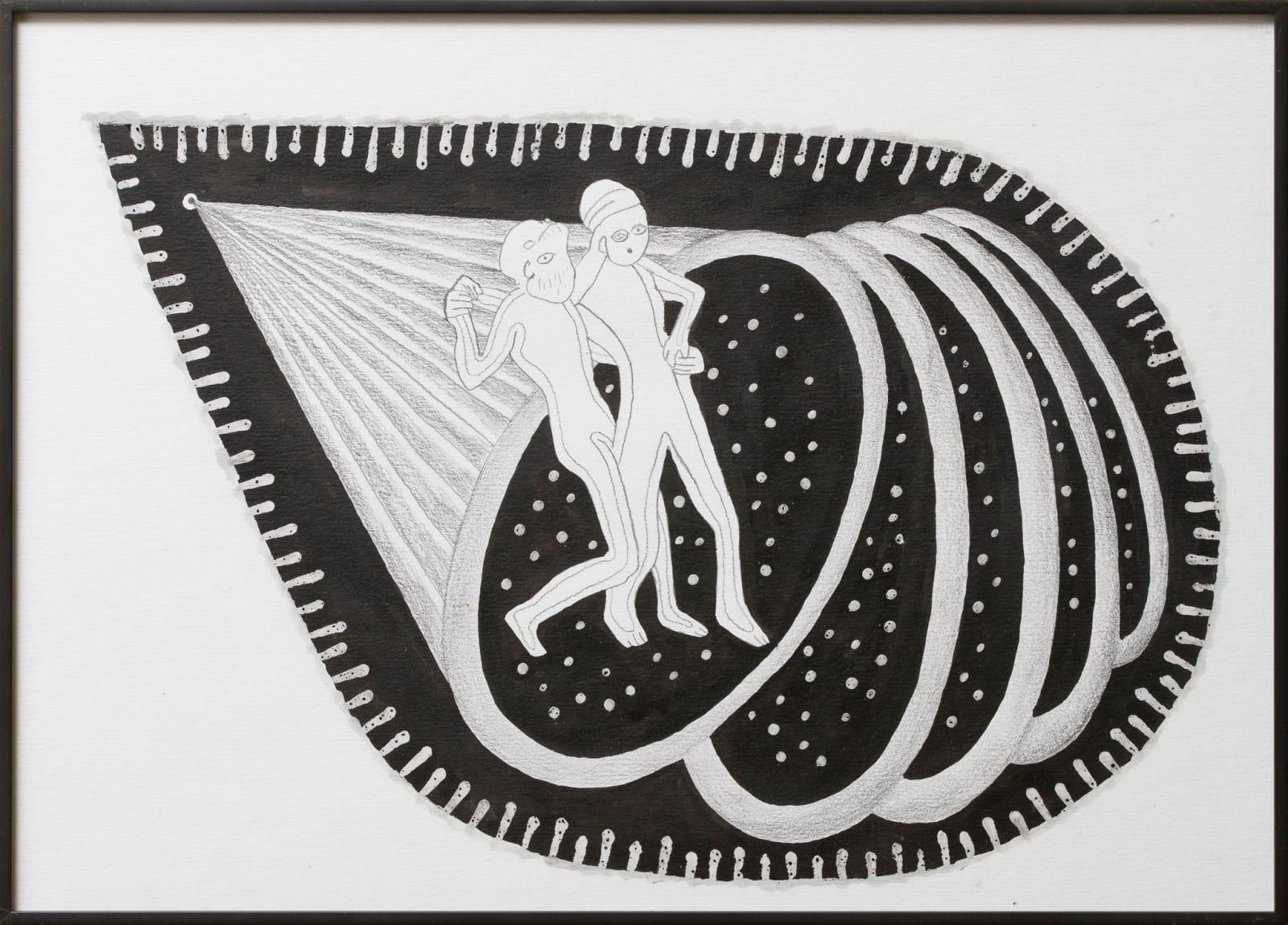 Anna Hulacova, Untitled, 2015 paper, graphite, ink, wax, 30 x 42,5 x 2 cm