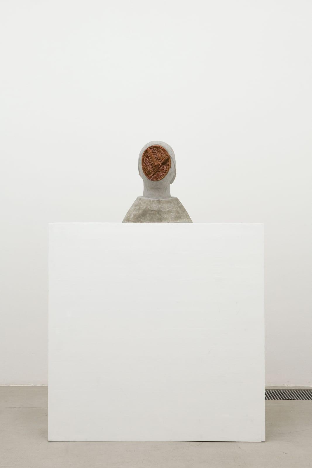 Anna Hulacova, Untitled, 2017, concrete, acrylic filler, 39 x 33 x 25 cm