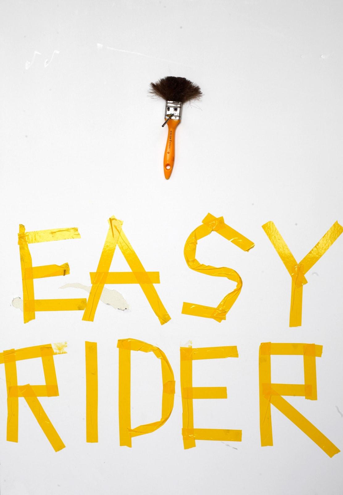 Kristof Kintera, Easy Rider, 2017, mixed media, cm 103 x 73